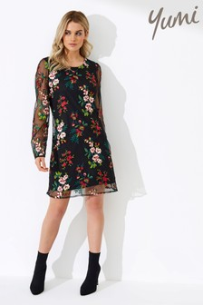 Yumi Embroidered Floral Tunic Dress