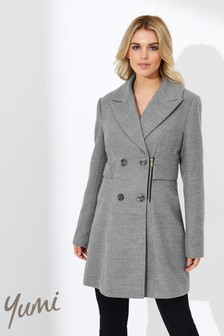 Yumi Military Zip Detail Coat