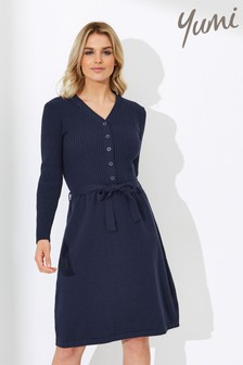 Yumi Knitted Shirt Dress