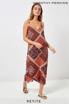 Dorothy Perkins Petite Cut-About Paisley Slip Dress