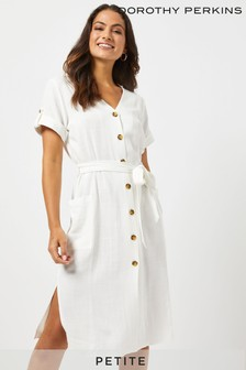Dorothy Perkins Petite Linen Shirt Dress