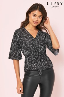 Lipsy Wrap Blouse