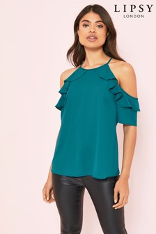 Lipsy Ruffle Cold Shoulder Blouse