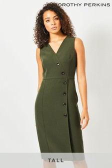 Dorothy Perkins Tall V neck Button Dress