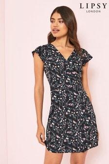 Lipsy Floral Wrap Dress