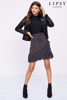Lipsy Wrap Spot Skirt