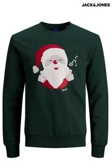 Jack & Jones Christmas Snowman Print Sweatshirt