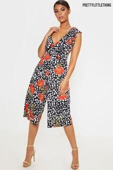 PrettyLittleThing Floral Culotte Jumpsuit