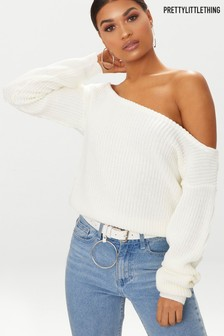 PrettyLittleThing Bardot Long Sleeve Top