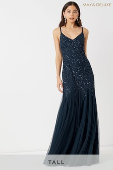 Maya Tall Sequin Cami Godet Fishtail Maxi Dress