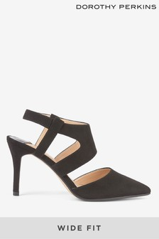 Dorothy Perkins Wide Fit Two Part Open Court Shoes