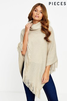 Pieces Tassel Poncho