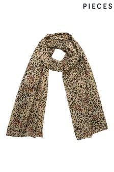 Pieces動物印花設計圍巾