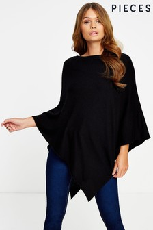 Pieces Knit Poncho