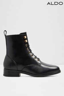 Aldo Leather Blend Combat Lace Up Boots