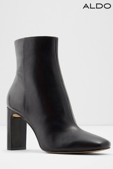 Aldo Leather Blend Square Toe Ankle Boots