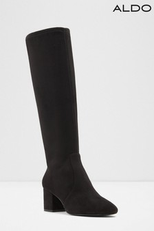 Aldo Leather Blend Knee High Block Heel Boots