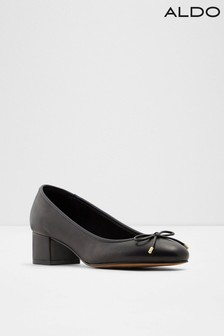 Aldo Leather Blend Heeled Ballerina Court Shoes