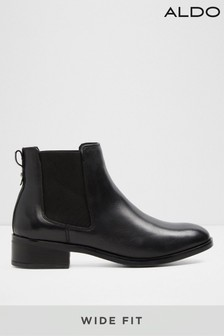 Aldo Wide Fit Leather Blend Ankle Boots