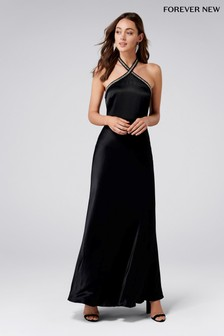 Forever New Halterneck Embellished Neck Maxi Dress