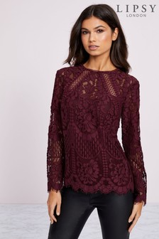 Lipsy VIP Lace Shell Top
