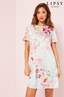 Lipsy Short Sleeve Shift Dress