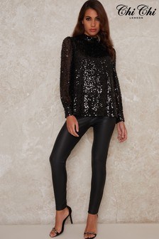 Chi Chi London Jenniah Sequin Top