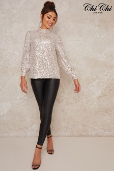 Chi Chi London Sammie Sequin Top