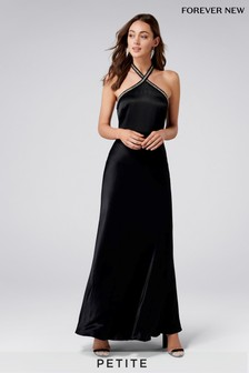 Forever New Petite Halterneck Embellished Neck Maxi Dress