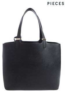Pieces Faux Leather Shopper Bag