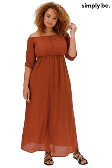 Simply Be Bubble Sleeve Bardot Dress