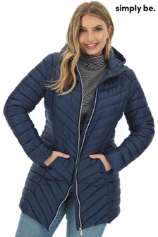 Simply Be Long Lightweight Padded Jacket