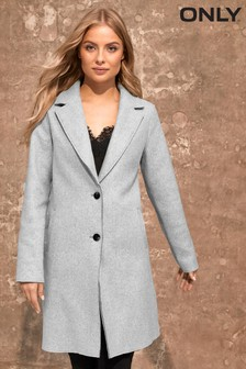 Only Bonded Button Through Coat