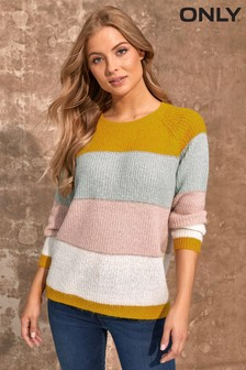 Only Color Block Stripe Jumper