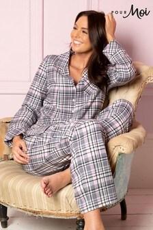 Pour Moi Cosy Check Pyjama Set
