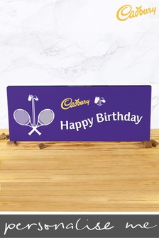 Personalised Happy Father's Day 850g Cadbury Dairy Milk Bar - Tennis Design By YooDoo