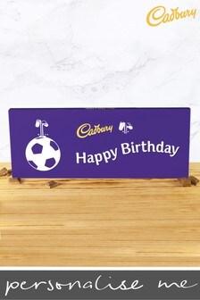 Personalised Happy Birthday 360g Cadbury Dairy Milk Bar - Football Design By YooDoo