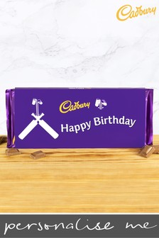 Personalised Happy Father's Day 360g Cadbury Dairy Milk Bar - Cricket Design By YooDoo