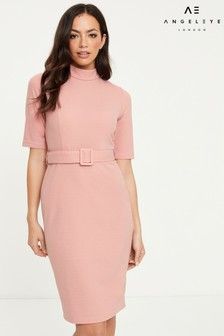 Angeleye Belted Midi Dress