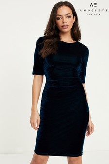 Angeleye Velvet Short Sleeve Dress