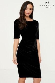 Angeleye Velvet Short Sleeve Dress