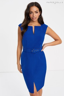 Paper Dolls Self Belt Bodycon