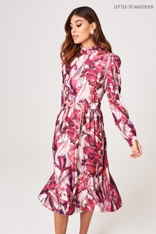 Little Mistress Floral Midi Dress