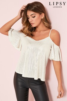 Lispy Cold Shoulder Top