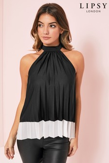 Lipsy Pleated Halter Neck Top