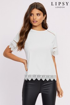 Lipsy Crochet Trim Top
