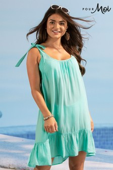 Pour Moi Escape Tie Shoulder Beach Dress