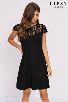 Lipsy Lace Sweetheart Shift Dress