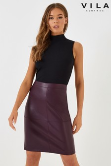 Vila PU Pencil Skirt