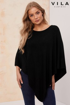 Vila Slash Neck Poncho